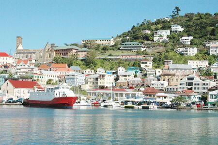 grenada: the famous carenage harbor in grenada