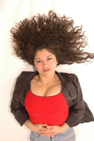 beautiful latin lady with long hair Stock Photo - 340203