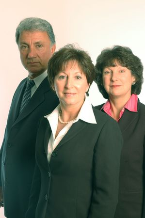 office force: female executive and staff Stock Photo