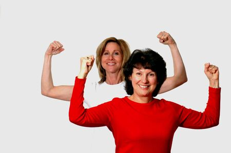 two friends at fitness time Stock Photo