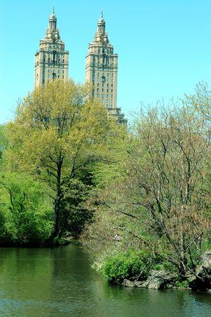 the el dorado art deco building new york city central park Фото со стока