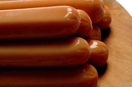 barbecue time hot dogs Stock Photo