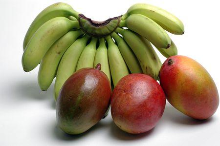 nino bananas and mangoes Stock Photo