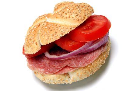 kaiser: salami sandwich on kaiser roll