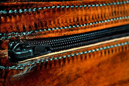 quality leather bag detail handmade in greece
