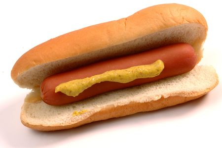 hot dogs with deli mustard photo