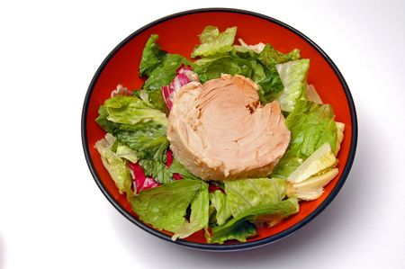 diet salad tuna  with lettuce