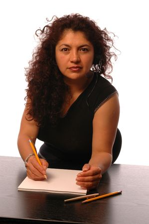 attractive smiling hispanic business woman Stock Photo - 420445