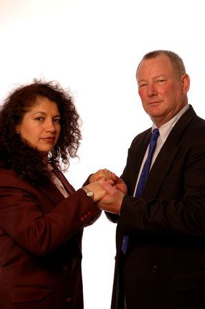 successful business partners shaking hands Stock Photo - 420388