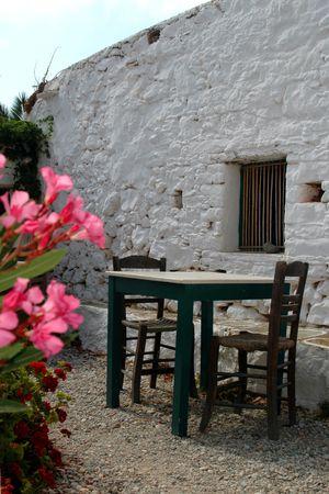 restaurant setting europe Imagens