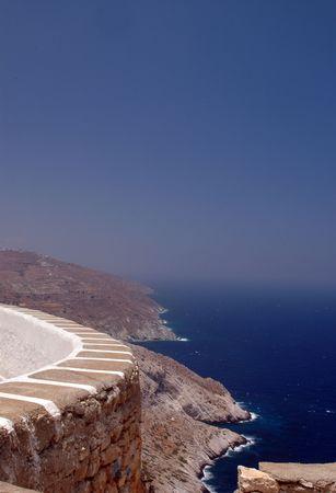 overlook: scenic overlook island view Stock Photo