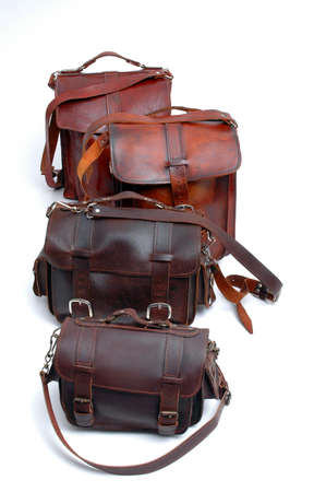 leather bags handmade group of sizes