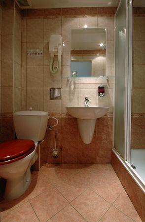bathroom in european pension