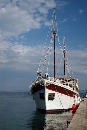 beautiful boat at pier photo