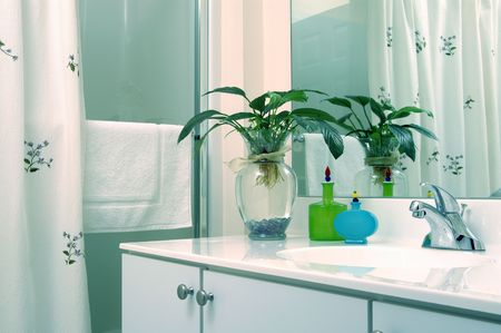 architectural detail: modern bathroom Stock Photo
