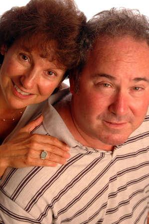 happy middle aged couple Banco de Imagens