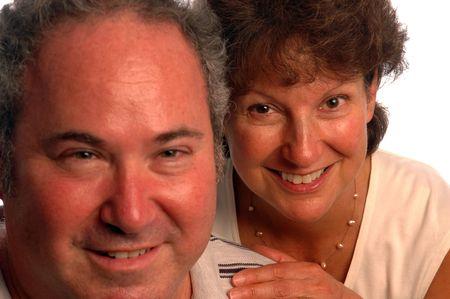 happy middle aged couple focus on the woman Banco de Imagens - 517592