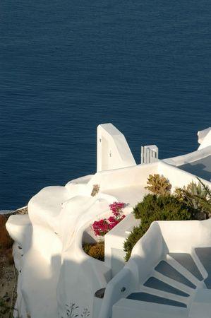 cliffside hotels and villas in oia santorini greece islands Stock Photo - 539851