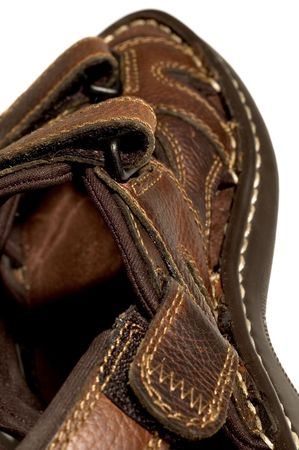 brown quality sandals detail