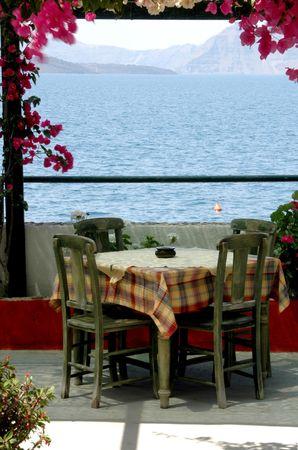 greek island taverna setting by the sea Stock Photo - 539719