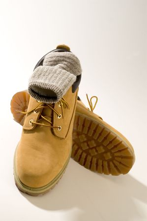 rugged casual shoes in tan photo