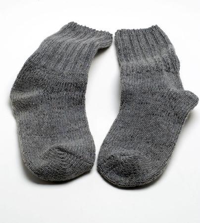 quality woven pair warm gray socks