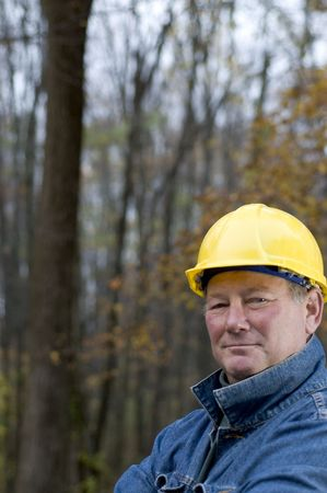 contractor handyman builder smiling confident happy on the job