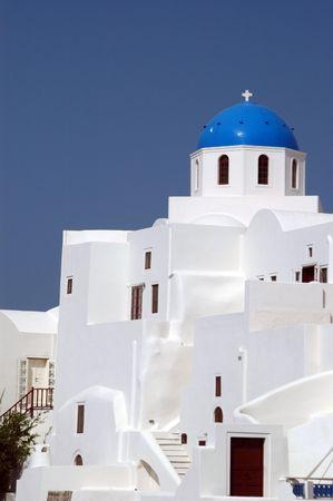 greek island church and monastery famous santorini Imagens