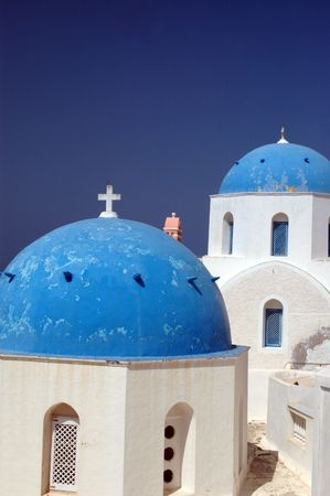 greek island church and monastery famous santorini photo