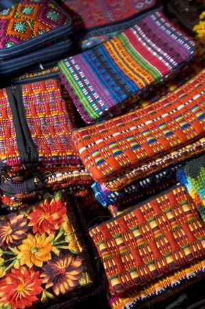 greeen: colorful hand made napkins wallets change purses textiles guatemala shop
