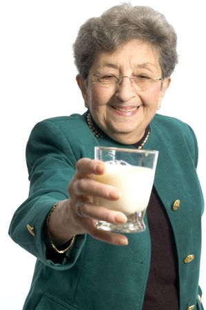 grandma: ooh a nice glass of milk for a pretty woman senior