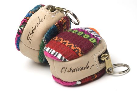 handmade souvenir key chains change purse from el salvador photo