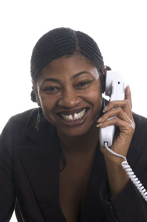 sales rep: beautiful black woman customer service representative businesswoman