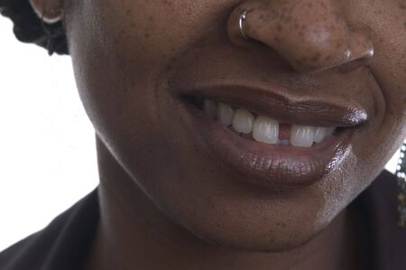 nosering: black woman with big smile wearing nose ring