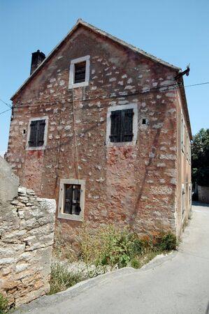 typical: typical building house architecture croatia brac island dalmatia