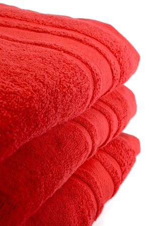 red towels bath size 100% fine egyptian cotton Stock Photo - 759038