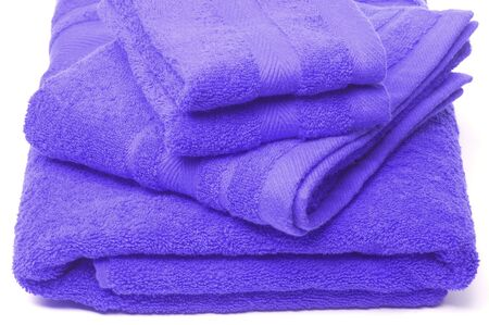 bath hand and wash cloth towels all cotton luxury blue Stock Photo - 759033