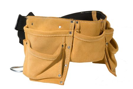 suede belt: herramienta de servicio pesado cintur�n de cuero gamuza delantal de trabajo con bolsillos