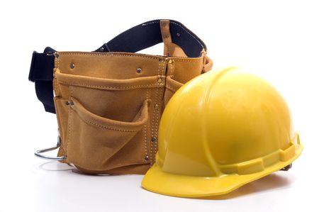suede belt: el casco duro de la protecci�n del sombrero y el cuero resistente del ante de la correa de la herramienta trabajan el delantal con los bolsillos