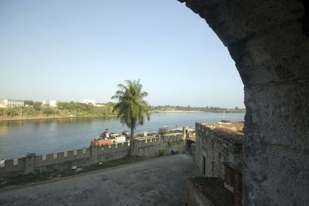 view of river ozama from the fortaleza santo domingo dominican republic photo