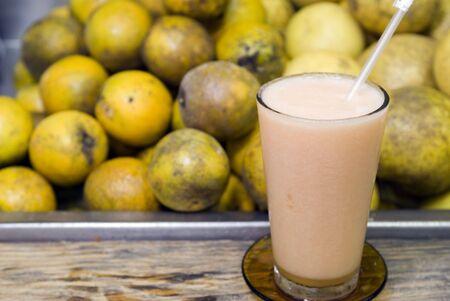 fresh fruit melon drink at local restaurant santo domingo dominican republic Stock Photo