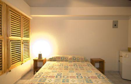 fridge lamp: native hotel room dominican republic budget simple  Stock Photo