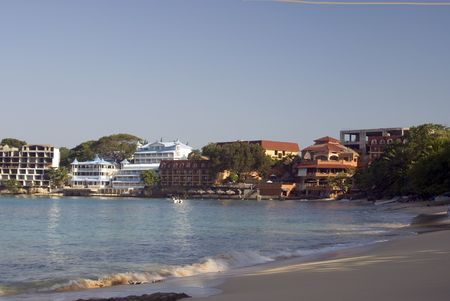 hotel development along sosua beach dominican republic Фото со стока