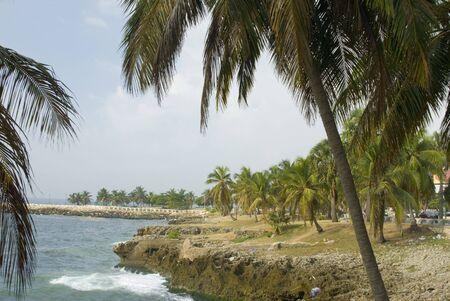 santo: waterfront malecon santo domingo, dominican republic caribbean sea Stock Photo