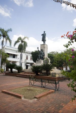 santo: statue of Juan Pablo Duarte, founder of Dominican Republic, Santo Domingo