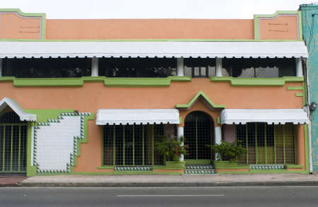 awnings: colorful building detail architecture dominican republic