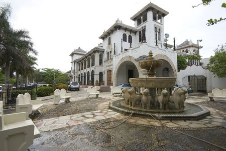casa: casa de espana building spanish moorish architecture san juan puerto rico