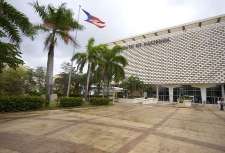 juan: government office building department of estate property finance san juan, puerto rico Stock Photo
