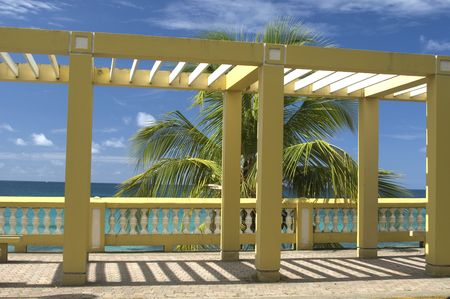gazebo: cloister structure on the malecon vieques, puerto rico