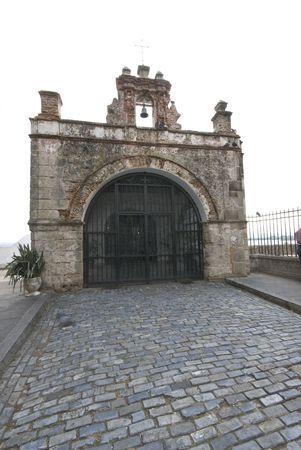 cobble: Capilla cappella el cristo Cobble Stone Street vecchia San Juan, Porto Rico  Archivio Fotografico